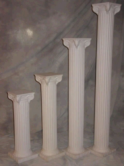 Where to find COLUMN, 32  TALL, WHT, PLASTIC in Howell