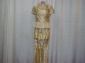 Rental store for CHINA WOMEN, GOLD TEA GOWN2PC. in Howell MI