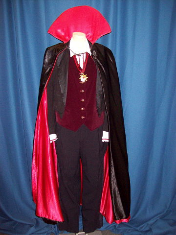 Dracula Cape Tailcoat Assor Rentals Howell Mi Where To
