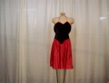 Rental store for DRESS, BLACK VELVET- RED SATIN in Howell MI