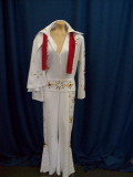 Rental store for ELVIS, WHITE, JUMP SUIT, 3 PC in Howell MI