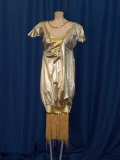 Rental store for FLAPPER GOWN, LAME GOLD SILVER in Howell MI