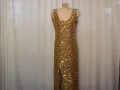 Rental store for GOLD SEQUINED GOWN W  GOLVES in Howell MI
