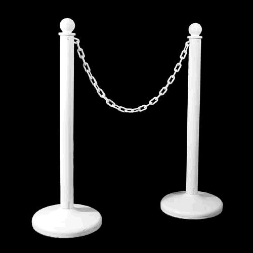 Where to find STANCHION, AISLE, WHT, PLASTIC in Howell