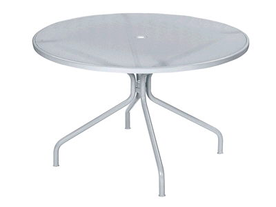 Where to find TABLE, PATIO, 42 , WHITE METAL in Howell