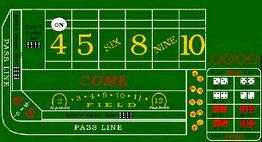 Where to find CRAPS LAYOUT GAME in Howell